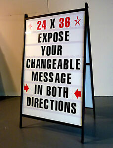Double Side Sidewalk A Frame Sandwich Sign Message Board W 2 Protective Covers