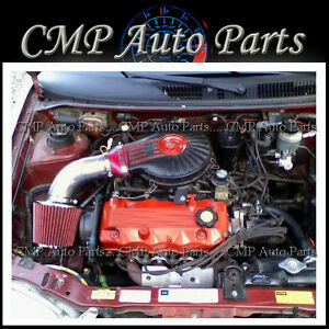 Red 1991 1997 Chevy Geo Metro 1 0l 1 3l Lsi Xfi Air Intake Kit Induction Systems