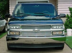 1995 1999 Chevy Tahoe Chrome Mesh Grille Grill Kit By Automotive Authority