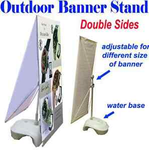 Outdoor Double Sides Adjustable X Banner Stand W Water Base Display Banner