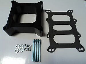 2 Open Phenolic Carburetor Spacer 4bbl Holley Chevy Ford Sbc Bbc Bb Sb 350 Carb