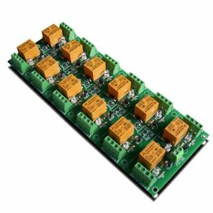 12 Channel Spdt Relay Module Board 10a 250vac 24vdc Power Supply 24vdc