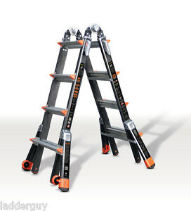 17 1a Fiberglass Little Giant Dark Horse Ladder W platform 15147