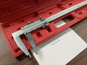 24 Heavy Duty Vernier Caliper stainless W Fine Adjustment 4 Jaw Depth new