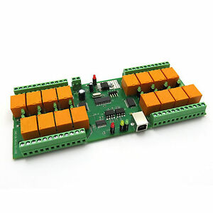 Usb 16 Channel Relay Module board For Home Automation 12v