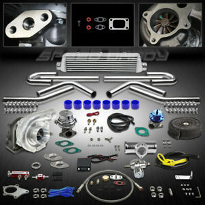 T04e 12pc T3 T4 Universal Turbo Kit Turbocharger Intercooler Wastegate Bov Timer