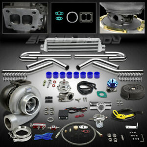 Gt45 12p T4 Universal Turbo Kit Stage Iii Turbocharger Intercooler Bov Wg Timer