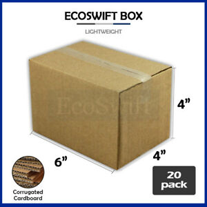 20 6x4x4 Cardboard Packing Mailing Moving Shipping Boxes Corrugated Box Cartons