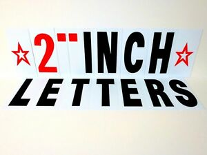 2 Inch Changeable Sign Letters For Outdoor Indoor Sign
