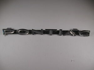 Pontiac Emblem Badge Script Trim Metal Vintage Gm