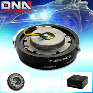 Nrg Thin slim Version Steering Wheel Quick Release Black Hub Kit Adapter 6 hole