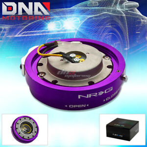 Nrg Thin Slim Version Steering Wheel Quick Release Purple Hub Kit Adapter 6 Hole