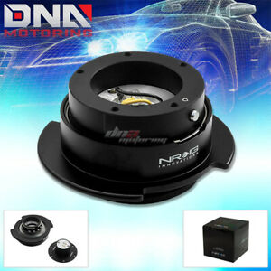 Nrg Gen 2 5 5 holes Steering Wheel Quick Release Hub Kit adapter Black Body ring