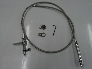 Th 350 Stainless Braided Transmission Kick Down Cable Detent Chevy Trans Th350