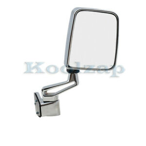 87 02 Jeep Wrangler Manual Chrome Folding Rear View Mirror Right Passenger Side