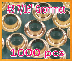 1000 3 7 16 Grommet And Washer Brass Eyelet Grommets Machine Sign Punch Tool