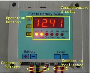 1v 20v Li ion Lithium Storage Battery Capacity Tester Discharge Power Resistor
