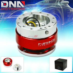 Nrg Gen 1 0 Quick Release Silver Body With Red Ring Hub Kit 4 Steering Wheel