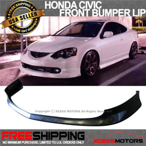 Fits 02 04 Acura Rsx Jdm T R Style Front Bumper Lip Spoiler Unpainted Black Pu Fits Acura Rsx