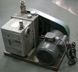 Welch Duo seal Series Vacuum Pump 1376 Two stage Belt drive W Ge Motor