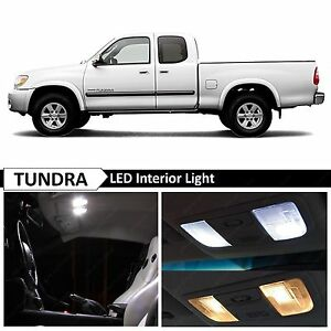 White Interior License Plate Led Lights Package Kit Fits 2000 2006 Toyota Tundra