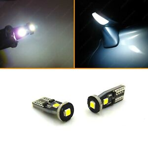 Super Bright White T10 Wedge Led Under Side Mirror Puddle Light Bulbs 168