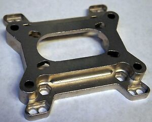 Adapter 2 Barrel To 4 Barrel Intake Manifold Carburetor Throttle Plate Two Four