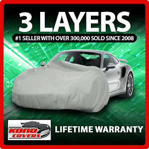 3 Layer Suv Cover Soft Breathable Dust Proof Uv Water Indoor Outdoor Car 3707