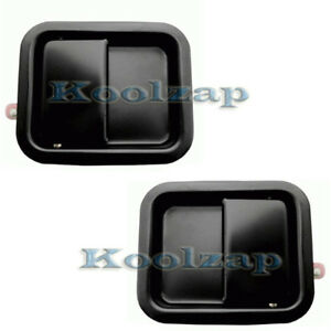 87 06 Wrangler Black Outside Exterior Full Door Handle Left Right Side Pair Set