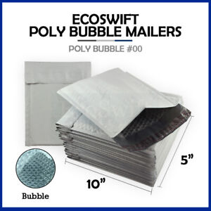 1 00 5x10 Poly Bubble Mailers Padded Envelope Shipping Supply Bags 5 X 10