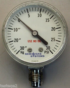 Semi Gas Systems Pressure Gauge 21 0231 01 Inch Male Vcr Fittings Bottom Moun