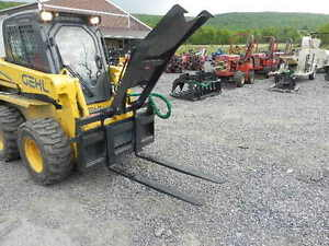 Cid Xtreme 48 Fork Grapple Log Bobcat Wood Skid Steer Loader Skid Steer Forks