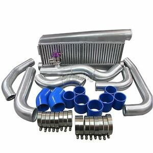 Fmic Twin Turbo Intercooler Kit For 79 93 Fox Body Ford Mustang V8 5 0 Gt35