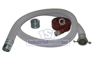 2 Flex Water Suction Hose Kit W 25 Red Discharge Hose