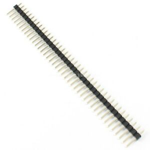 1000pcs 2 54mm Pitch 40 Pin Male Single Row Straight Pin Header Strip