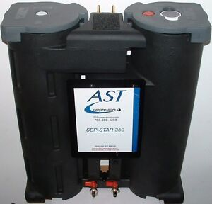 Sep star 350p Oil Water Separator For Air Compressor Condensate Up To 350 Cfm