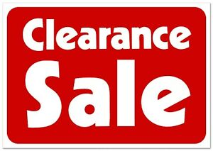 Clearance Sale Retail Store Sale Business Discount Promotion Message 11x7 Signs