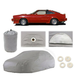 Ford Mustang 4 Layer Car Cover Fitted Outdoor Water Proof Rain Sun Dust 1st Gen Fits 1968 Mustang