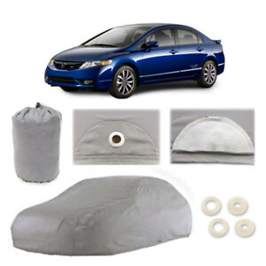 Honda Civic 5 Layer Car Cover Fitted In Out Door Water Proof Rain Snow Sun Dust