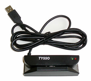 Tmsr 380 33 Usb 3 track Compact Magnetic Stripe Credit Card Id Reader 300k Pass