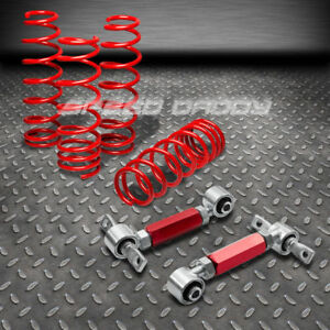 1 75 Lowering Springs Rear Camber Suspension Arm Kits 92 00 Honda Civic Dc2 Red