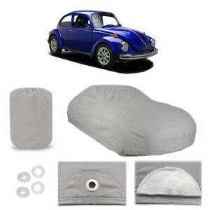 Classic Volkswagen Super Beetle 4 Layer Car Cover Water Proof Rain Snow Sun Dust