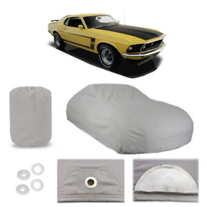 Ford Mustang 6 Layer Car Cover Fitted Outdoor Water Proof Rain Sun Dust 1st Gen Fits 1968 Mustang