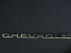 Chevrolet Emblem Badge Script Trim Metal Gm Chevrolet