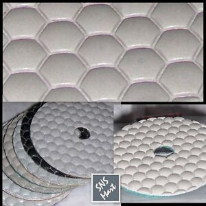 4 Diamond Polishing Pads Dry Concrete Granite Prem Set
