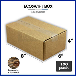 100 8x6x4 Cardboard Packing Mailing Moving Shipping Boxes Corrugated Box Cartons