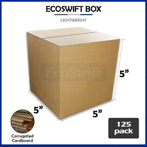 125 5x5x5 Cardboard Packing Mailing Moving Shipping Boxes Corrugated Box Cartons