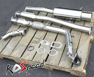 Stainless Turbo Catback Turboback Exhaust System up Pipe downpipe For 02 wrx sti