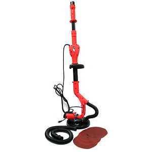 Deluxe 5 Speed Electric Swivel Drywall Ceiling Handheld Sander 6ft Pole Paper