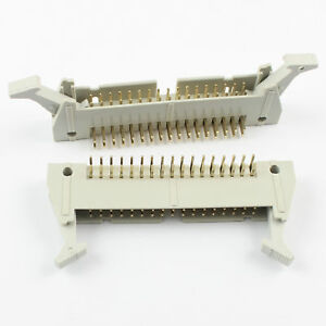 50pcs 2 54mm 2x17 34 Pin Male Right Angle Ejector Header Connector With Latch